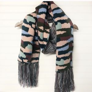 NWT Express Camo Knit Oblong Scarf